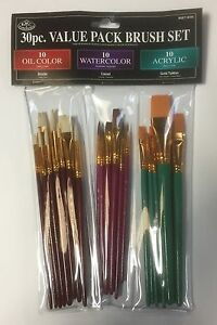 ROYAL-amp-LANGNICKEL-Quality-Complete-Set-of-30-Art-Brushes-All-Sizes-and-Paints