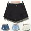 UK-Vintage-Ripped-Womens-High-Waist-Stonewash-Denim-Shorts-Jeans-Hot-Pants-6-22 thumbnail 7