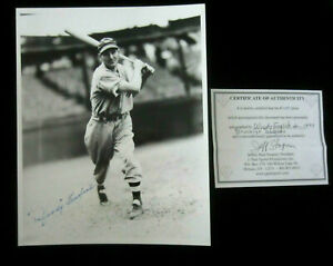 Signed-8x10-photo-of-Woody-English-d-039-97-Brooklyn-Dodgers-Vintage