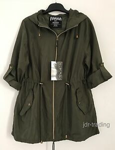 bbb3f739a763c LADIES KHAKI GREEN PARKA IN A POCKET Pac A Mac Rain Coat Jacket ...