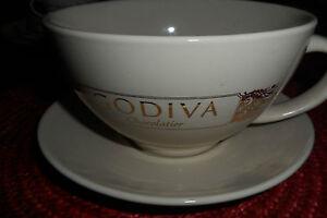 GODIVA Chocolatier Mug & Saucer with Gold Lettering, California ...