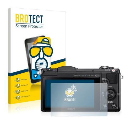 DSLR-A5000 Película Protectora 2x Protector Pantalla Mate Sony Alpha 5000