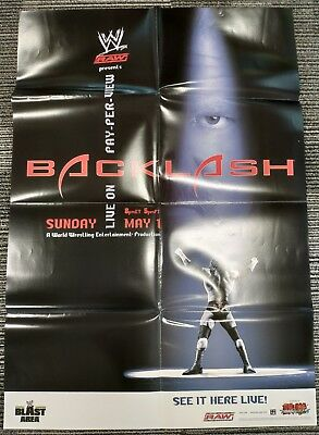 Wwe Ppv Poster 27x39 Triple H Backlash 2005 Official Poster Ebay