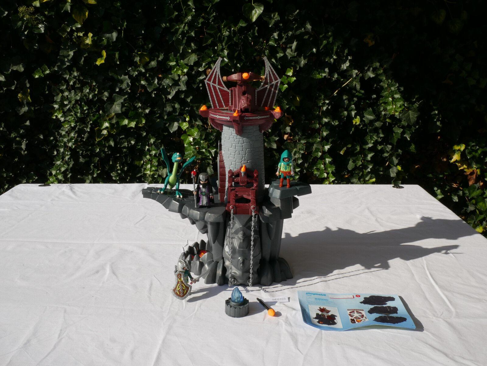 (SE0103) Playmobil 4836 Drachenturm mit Drache, Drachenrittern, Drachenlicht  | Up-to-date Styling