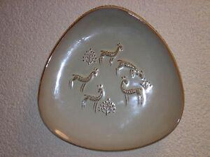Wandteller-Wall-Plate-Rehe-Roe-Deers-50s-60s-WGP-Keramik-Hersteller