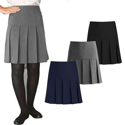 Owasi Womens Girls Half Drop Pleat Skirt School Uniform