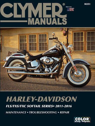 Clymer M251 FLS//FXS//FXC Softail Series 2011-2016 Troubleshooting Repair Manual