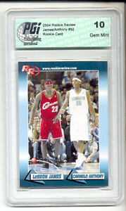 LeBron-James-amp-Carmelo-Anthony-2004-Rookie-Review-RC-card-92-PGI-10
