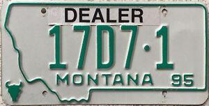 GENUINE-American-1995-Montana-Dealer-USA-License-Licence-Number-Plate-17D7-1