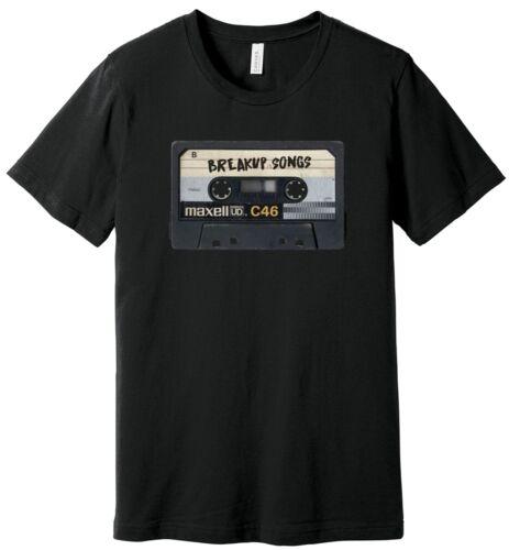 Maxell Cassette Tape Breakup Songs Mixtape 100/% Ringspun Cotton T-Shirt