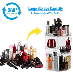 Details about 360 Degree Rotating Makeup Display Cosmetic Organizer Rack  Storage Case Holder