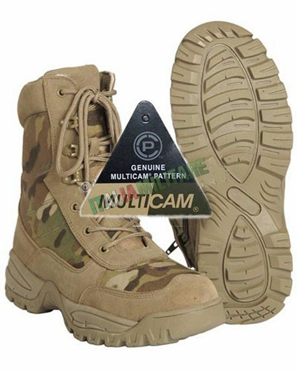 Anfibi Stivali Militari ZIP Laterale MilTec Multicam - Anfibio Militare MilTec Laterale b2a271