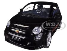 FIAT 500 ABARTH BLACK 1/18 DIECAST MODEL CAR BY MOTORMAX 79168