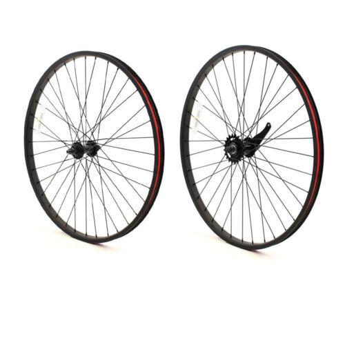 "Beach Cruiser bike 26/""x 32mm Fat Rear /& Front Wheels Wheelset Rims Black"