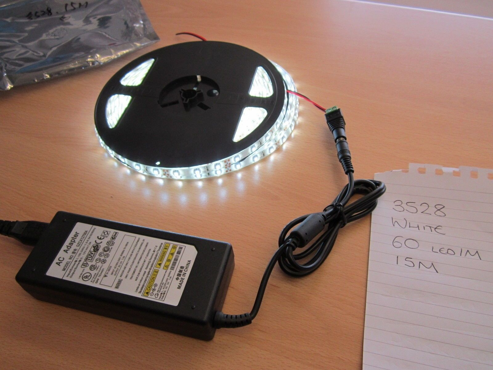 15M Waterproof Indoor Outdoor Adhesive Bright Weiß 3528 LED Light Strip