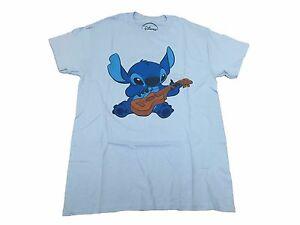 Disney stitch playing ukulele alien cartoon vintage retro for Original stitch shirt review