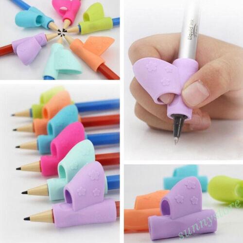 Children Pen Pencil Silicone Grip Corrector Hand Writing Gripper Orthotics