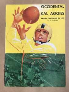 OCCIDENTAL COLLEGE @ CAL AGGIES COLLEGE FOOTBALL PROGRAMS 1952 EX