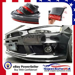 Universal-100-034-Carbon-Fiber-Front-Bumper-Lip-Splitter-Chin-Spoiler-Body-Kit-Trim