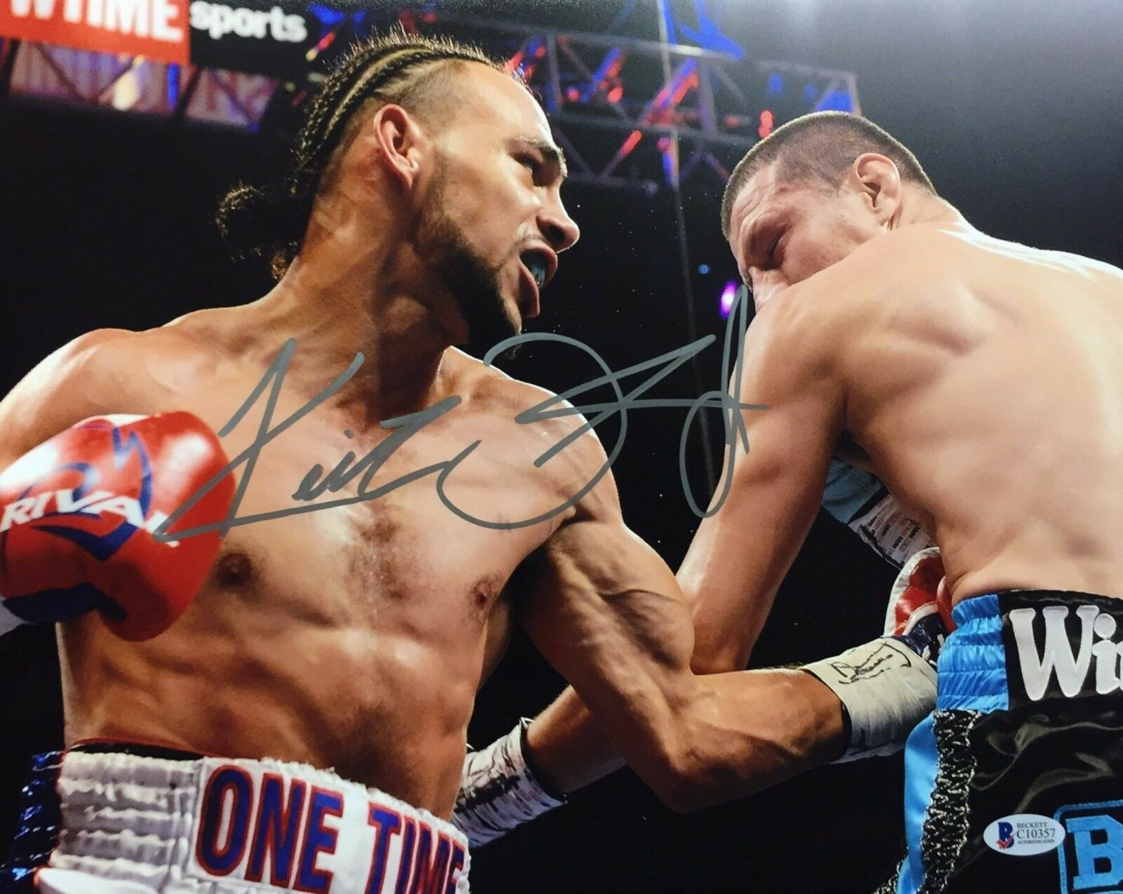 Keith Thurman Signed 11x14 Boxing Photo BAS Beckett C10357