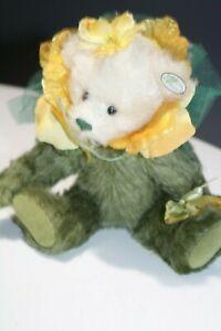 Knickerbocker-Mohair-Jointed-Bear-10-034-Flower-Bear-NWT
