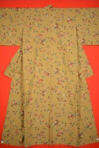 Vintage-Japanese-Wool-Antique-BORO-KIMONO-Kusakizome-Dyde-Textile-VQ41-1000