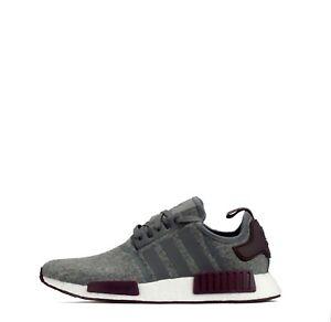 Adidas Originals NMD R1 lana hombres formadores gris / marrón eBay