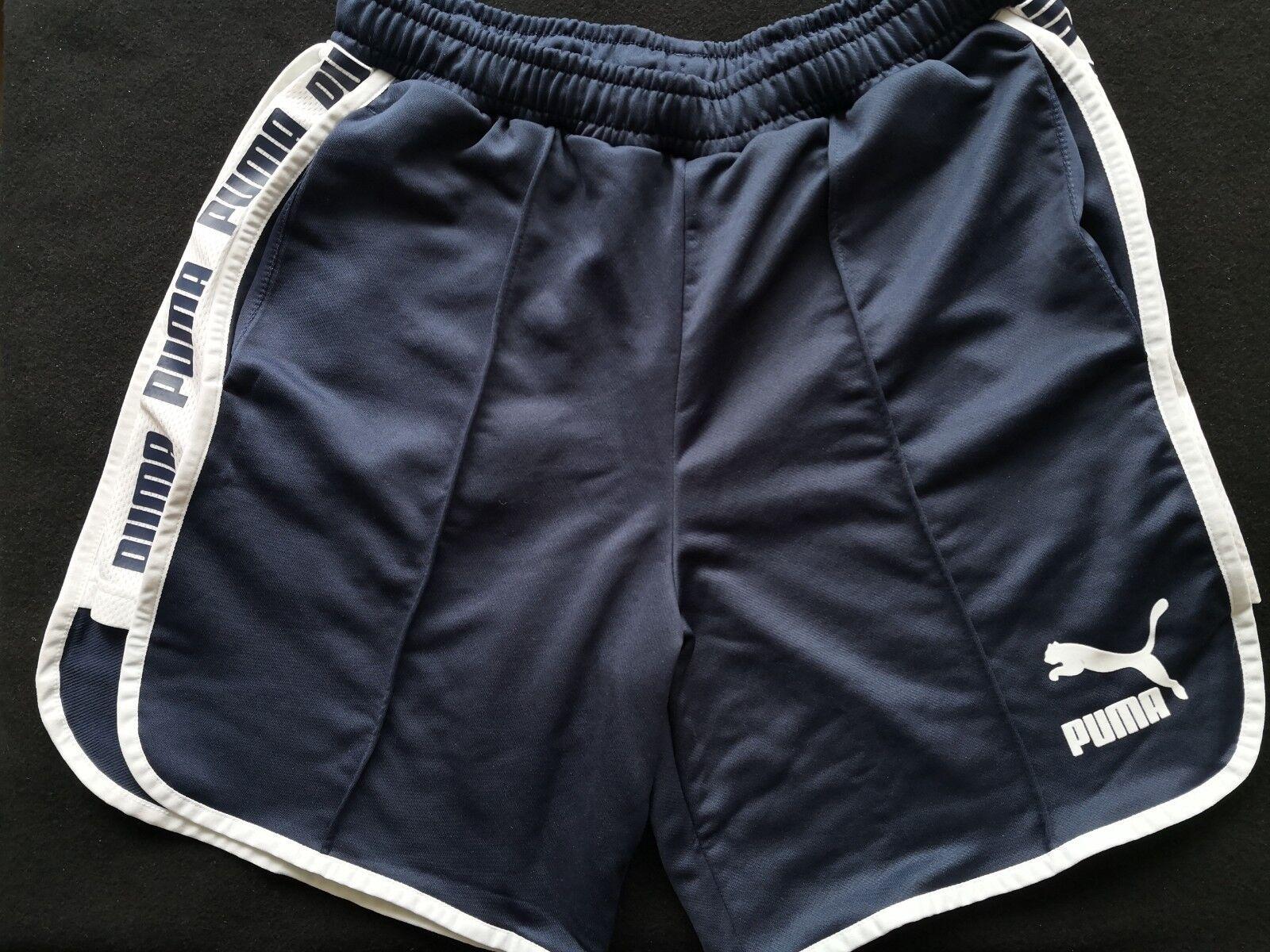Puma Retro Vintage Like PREMIUM Shorts Dark bluee NAVY Size S Brand NEW 575219 06