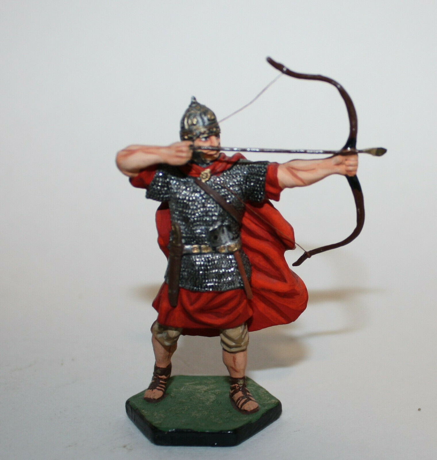 Niena Russian Red Medieval Roman Archer Bow Arrow St Petersburg Painted Figure