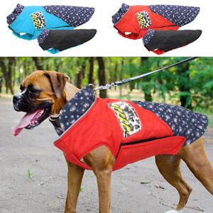 Grosse-Hundejacke-Hundebekleidung-Reflektierend-Hundemantel-Reversibel-Outfits