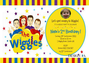 The Wiggles Birthday Party Supplies Personalised Invitations Card