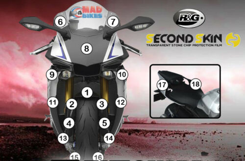 R/&G Second Skin Yamaha YZF R1 M 2015-2018 Stone Chip Paint Protection Guard