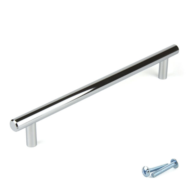 M4TEC Chrome Kitchen Cabinet Door Handles Cupboard Drawer Bedroom Furniture  Pull