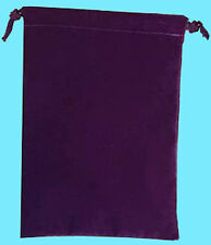 Chessex SMALL PURPLE DICE BAG SUEDE Drawstring 4x6 Storage Pouch Velour Cloth