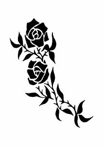 Sweet-Brier-Rose-Tattoo-style-stencil-350-micron-Mylar-not-thin-stuff-TaT0020