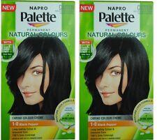 2 NAPRO PALETTE NATURAL COLOURS PERMANENT HAIR COLOUR 1.0 BLACK PEPPER Brand New