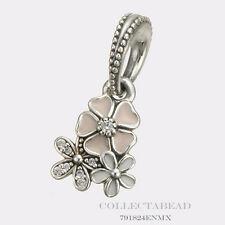 Authentic Pandora Sterling Silver Dangle Poetic Blooms Bead 791824ENMX
