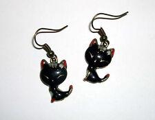 Ohrringe Kitty schwarz Rot Gothic Ohrhänger Emily Katze black sweet CAT Earring