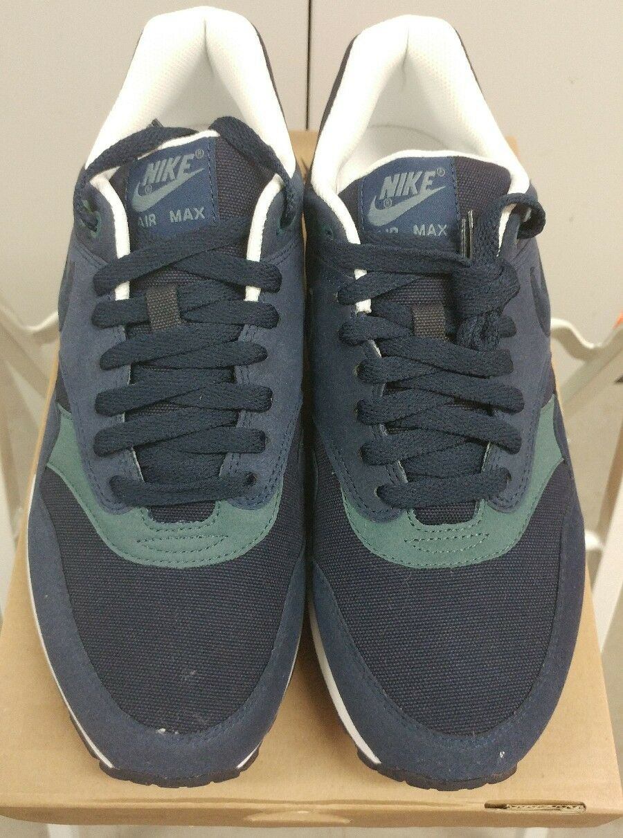 Nike Air Max 1 AM1 OG Suede Dark Obsidian Slate bluee  SZ 8.5 308866-404 2011