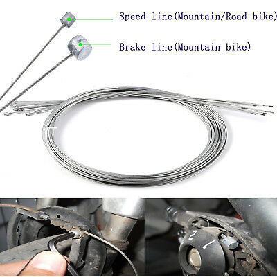 2x Road Bike MTB Gear Bicycle Brake Line Shifter Core Inner Cable Wire 2M