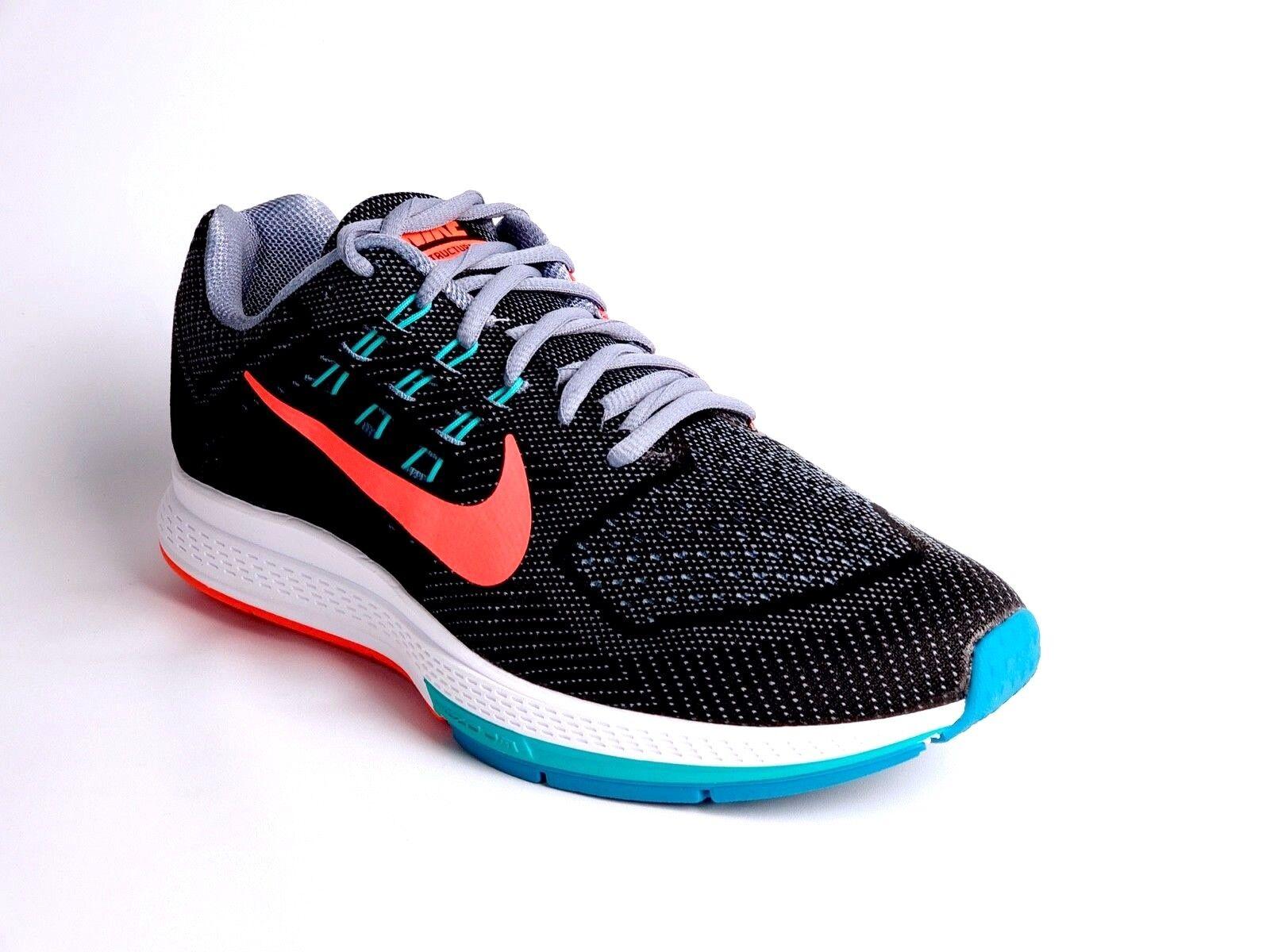 Nike Air Women's shoes Structure18 Grey Hyper Punch Jade Running 683737001 Sz10