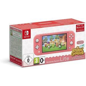 Nintendo Switch Lite Console Corallo + Animal Crossing New Horizons + NSO 3 mesi