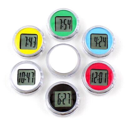 digital display 1.1 black SOOTOP Universal Stick-On Motorcycle watch,waterproof with clock