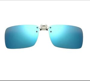 5f4e3b9be1c Image is loading Solar-Blue-Mirrored-Clip-on-Sunglasses