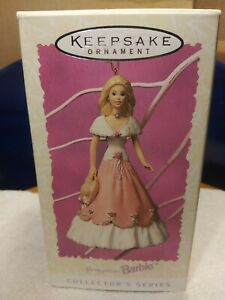 "Vintage 1997 Hallmark Keepsake ""Springtime Barbie"" X-mas Ornament w/Box"