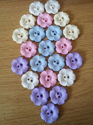 Daisy fleur en forme de plat soutenu 2 Trous Boutons Taille 36 L 23 mm 15//16 plus couleurs