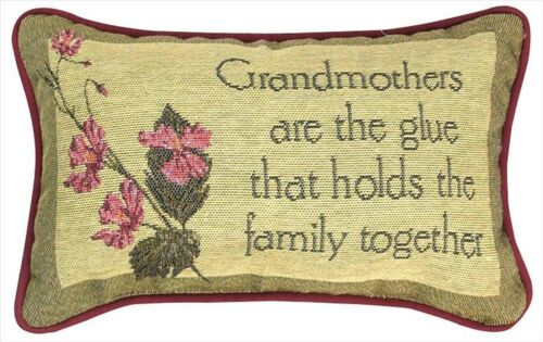 """DECORATIVE PILLOWS /""""GRANDMOTHERS HOLD THE FAMILY TOGETHER/"""" THROW PILLOW"""