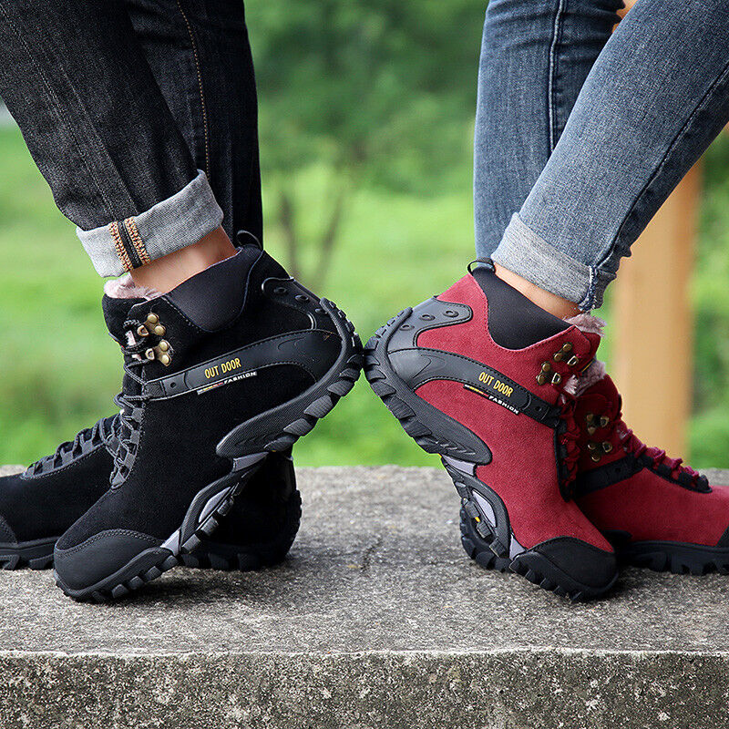 Men and Women Hiking shoes Outdoor Climbing Plush Winter Warm Sneakers Plus Size