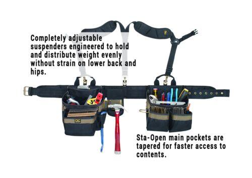 CLC Custom Leathercraft 1614 20 Pocket Heavy Duty Framers 5-Piece Comfortlif...