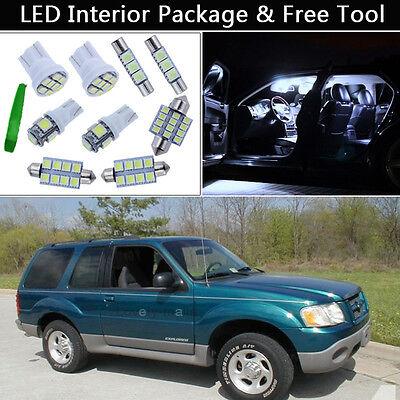 14PCS Xenon White LED Interior Lights Package kit Fit 1995-2001 Ford Explorer J1